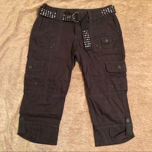 Cargo Capri pants for women